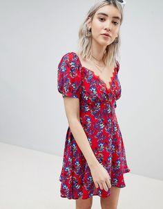 Boohoo Floral Prairie Bustier Dress Bustier Dress 0180549a8b16
