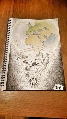 Universal consciousness  #drawing #draw #design #sketch #art #artwork #peace #love #consciousness #energy #world #earth #birds #oneness