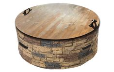 Wood Fire Pit, Rustic Fire Pits, Fire Pit Area, Diy Fire Pit, Fire Pit Backyard, Backyard Patio, Lanai Patio, Fire Pit Topper, Fire Pit Table Top