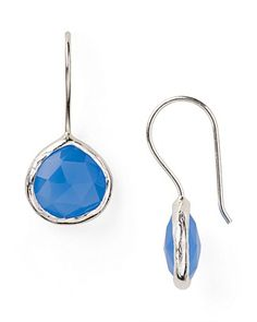 Coralia Leets Mini Blue Chalcedony Drop Earrings
