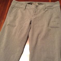 American Eagle Outfitters Kick Boot Pants American Eagle Outfitters Pants.  Color Gray. Size 2 Long.  Comfortable and stylish. Kick boot and stretch. In Good condition with Normal wear. Non smoking home. Please submit ALL Offers through the offer button ONLY. Will not negotiate price in the comment section. American Eagle Outfitters Pants