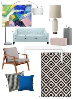 Beauty on a Budget: An Entire Living Room for Under $2000