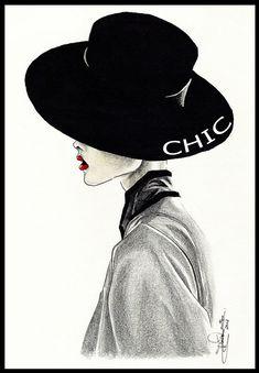 Chic by Tania-S on DeviantArt. #Fashion #Illustration