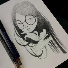 "https://flic.kr/p/jgCbAB | ""Cut"" drawing. #mayannlicudine #drawing #bedresting…"