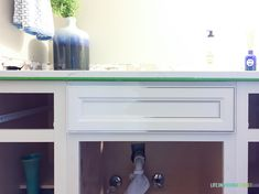 How To Paint Thermofoil Cabinets - Life On Virginia Street Painting Laminate Kitchen Cabinets, Melamine Cabinets, Mdf Cabinets, Kitchen Utensils Store, Life On Virginia Street, Beach House Kitchens, Budget, Industrial, Delta Faucets