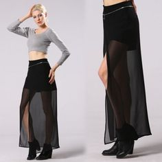 Stylish Lady Women's Fashion Casual Charming Long Skirt