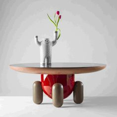 Explorer Tables by BD Barcelona Design Kid Furniture, Quality Furniture, Desk Tidy, Memphis Design, Design Department, Wooden Leg, Spanish Artists, Grey Glass, Glass Table