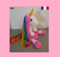 Chat Crochet, Crochet Amigurumi, Unicorn Pattern, Cat Pattern, Dinosaur Stuffed Animal, Crochet Patterns, Creations, Cats, Inspiration