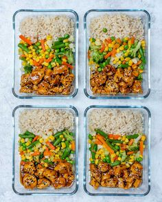 Teriyaki Chicken Bowls Teriyaki Chicken Bowls for Your Clean Eating Goals! – Clean Food Crush Teriyaki Chicken Bowls for Your Clean Eating Goals! Easy Healthy Meal Prep, Easy Meals, Healthy Recipes, Healthy Lunch Meals, Healthy Foods, Salad Recipes, Lunch Meal Prep, Meal Prep Bowls, Clean Eating Recipes