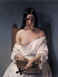 Francesco Hayez, Meditazione, 1851, olio su tela, cm 92,5 x 71, Galleria d'Arte Moderna Achille Forti