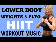 Lower Body HIIT for Strong Legs, Lower Body Workout with Dumbbells - YouTube