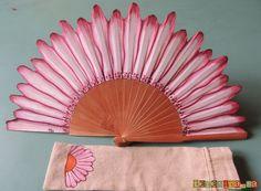 Abanico pintado a mano - hand painted fan - vanos pintats a mà