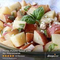 cool Picnic Potato Salad with No Mayonnaise