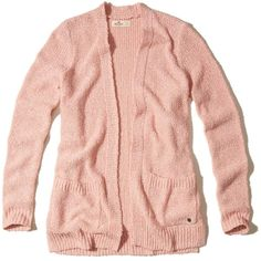 Hollister Textured Non-Closure Cardigan ($40) ❤ liked on Polyvore featuring tops, cardigans, pink, red cardigan, pink cardigan, textured cardigan, red top and cardigan top
