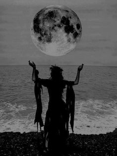 The Sacred feminine and the moon are divinely connected to one another.