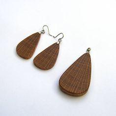 wlkr / Drevené sety / Dubový set Drop Earrings, Jewelry, Fashion, Moda, Jewlery, Jewerly, Fashion Styles, Schmuck, Drop Earring