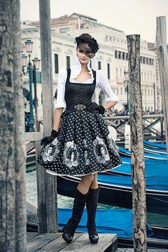 Black and white Sissi dirndl Dirndl Dress, Lolita Dress, Maxi Dresses, German Fashion, Feminine Dress, Young Fashion, Mode Inspiration, Fashion Outfits, Womens Fashion