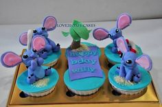 LILO and stitch cupcakes #love2loafs