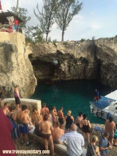 Cliff jumping at Rick's Cafe. So much fun! Not for the faint at heart. #rickscafe #negril #Jamaica #travel #travelagent #bucketlist