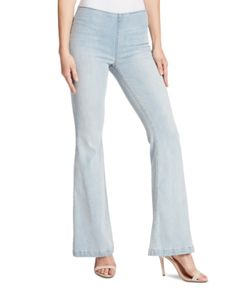 Ella Moss delivers a pair that's as fabulous with tucked in or fitted tops as loose, casual T-shirts with these pull-on, flare-leg jeans. Pull On Jeans, Flare Leg Jeans, Ella Moss, Juniors Jeans, Junior Outfits, Faux Fur Jacket, Cozy Sweaters, Casual T Shirts, Holiday Outfits