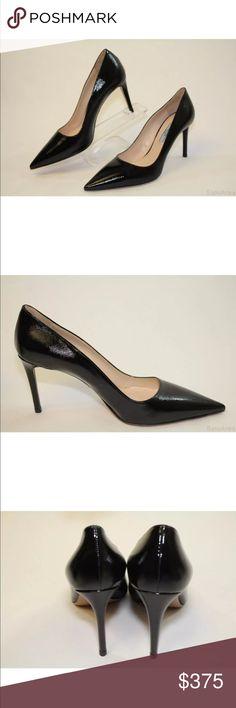 Selling this Prada NWT black leather Saffiano point toe pump on Poshmark! My username is: scluff. #shopmycloset #poshmark #fashion #shopping #style #forsale #Prada #Shoes
