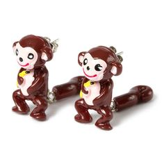 Monkey Front and Back Earrings | Claire's