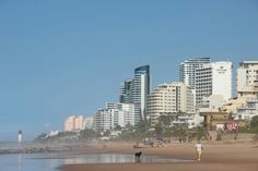 View of resorts from the beach at Umhlanga North Coast, Seattle Skyline, Resorts, San Francisco Skyline, Places Ive Been, Beach, Travel, Viajes, The Beach