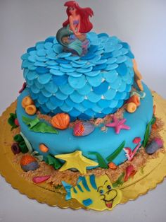 HOMEMADE SWEET: τούρτα Mermaid ARIEL Ariel, Mermaid, Birthday Cake, Homemade, Sweet, Desserts, Food, Candy, Tailgate Desserts