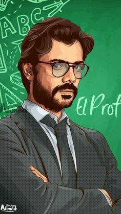 O professor ❤ Netflix Original Series, Netflix Series, Series Movies, Movies And Tv Shows, Tv Series, Photos Des Stars, Photos Du, Vector Portrait, Paper Houses