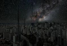 Como seria o céu das grandes cidades sem poluição nem luzes? - São Paulo, SP, Brasil - Brazil.