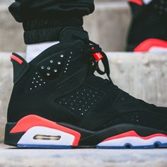 best website f845a 8d09d Perhaps the most beloved of all Air Jordan 6 colorways, the Black Infrared  look