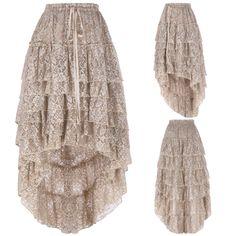 In Studio Crisp White Gauze Tiered Longer Skirt Sz 1x Skillful Manufacture Skirts Women's Clothing