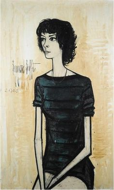 Bernard Buffet, Portrait of Annabel Buffet, 1960, oil on canvas, 130 x 81cm