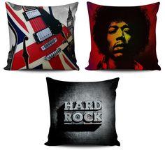 Conjunto 3 Almofadas Rock Londres