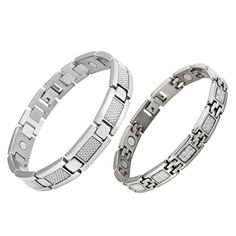 His & Hers matching Titanium Magnetic Bracelets