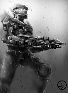 Trying to speed paint. With ref HALO: MC Halo Game, Halo 5, Best Games, Fun Games, Video Game Art, Video Games, Xbox, Missing In Action, Halo Spartan