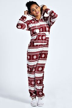 CUTE CHRISTMAS HOODED ONESUIT on The Hunt