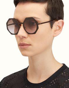 deab55b8207 FENDI FACETS_FOG275V1TF02RJ Round Sunglasses, Cat Eye Sunglasses, Fendi  Femme, Piercings, Jewelry Watches