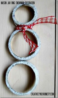Craft Lightning Holiday Edition: Make a Canning Ring Snowman Decoration in Under 15 Minutes