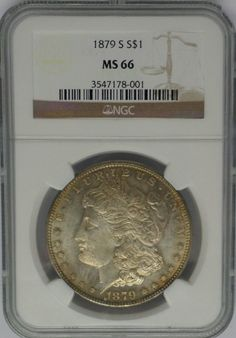 """1879-S   MORGAN  """"SILVER""""  $1 - Certified by  NGC MS66  -   #W4977"""