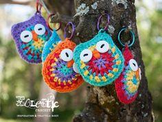 Crochet Owl Keyrings Free Pattern