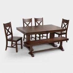 Mahogany Verona Trestle Table - v6