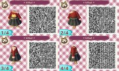 """vegetablecrossing: """" a cute cat jumper with a simple black hightop skirt! Feel free to share these codes, just please credit back to me. As always feel free to request different colour combinations for this design! Hope you like it! """""""