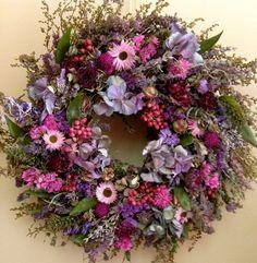Dried Flower Wreath/ Herb Wreath by CloverHollowDesigns on Etsy