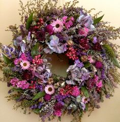Dried Flower Wreath/ Herb Wreath