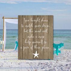 Shabby Chic shoe sign Beach wedding sign by DigitalPrintShop