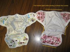 Cloth Diaper Cover Tutorial ... made with PUL + fold over elastic or bias tape