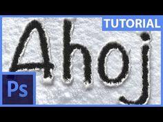 """Jak vytvořit """"Fake"""" nápis ve sněhu – Photoshop CZ tutorial Adobe Photoshop"""