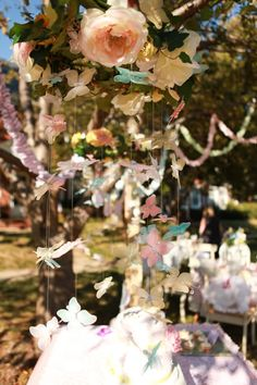 Beautiful butterfly party. See more details on www.karaspartyideas.com