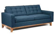 "One Kings Lane - Rugged & Refined - Howard 82"" Sofa, Hypnotic"